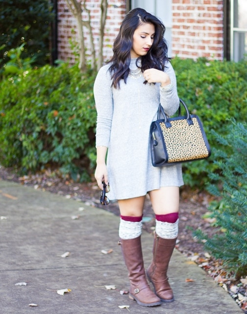Grey-Sweater-Dress-High-Socks (3 of 12)
