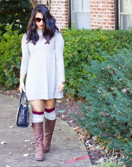 Grey-Sweater-Dress-High-Socks (4 of 12)