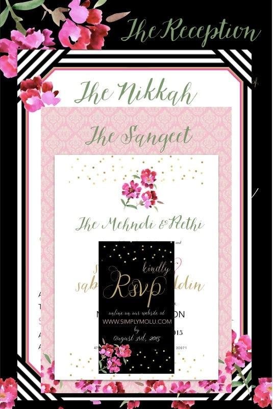 Wedding, wedding invitations, diy invitations, vistaprint, indian wedding invitations, southeastern wedding invitations, indian diy wedding invitations