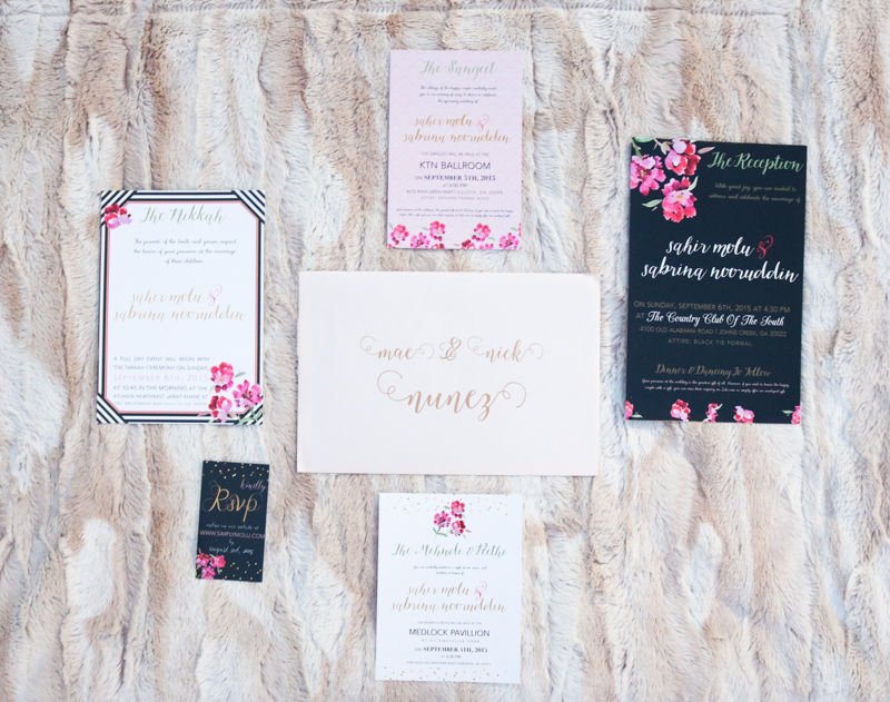 DIY: WEDDING INVITATIONS | Simply Sabrina