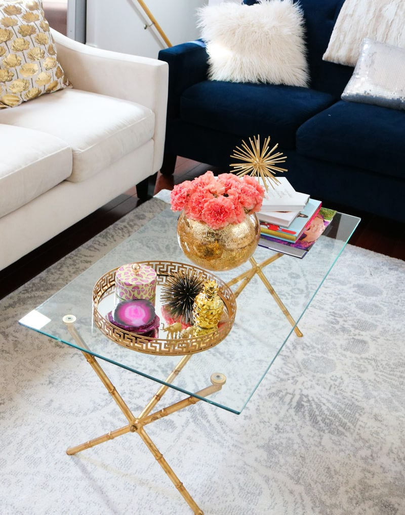 coffee table styling,