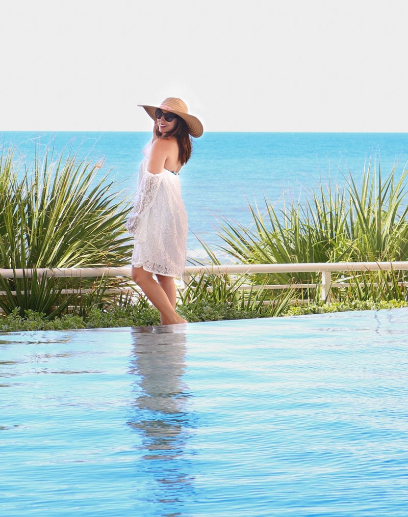 beach fashion, beach hat, beach cover up, white lace cover up, myrtle beach, swim, beach outfit, white lace cover, the perfect coverup