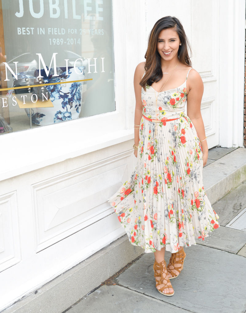oasis floral midi dress