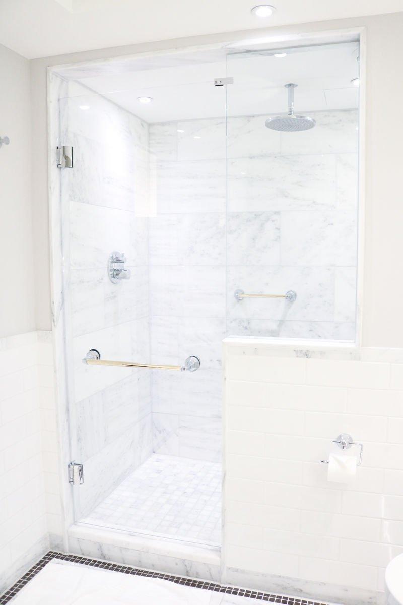 beautiful white bathroom in paris