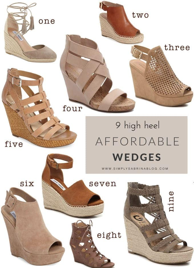 9 AFFORDABLE SPRING WEDGES YOU NEED TO HAVE