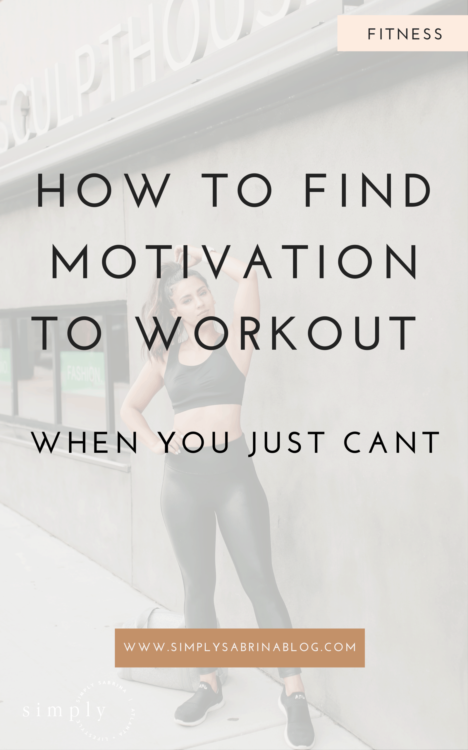 woman finding motivation to workout