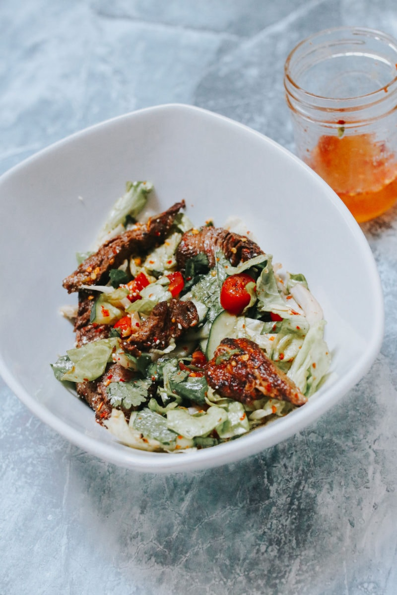 "The Best Recipe for Thai Beef Salad ""Nam Tok"""
