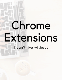 Google Chrome Extensions To increase Productivity