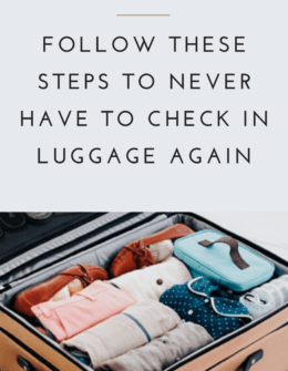 How To Pack For A Week In A Carryon