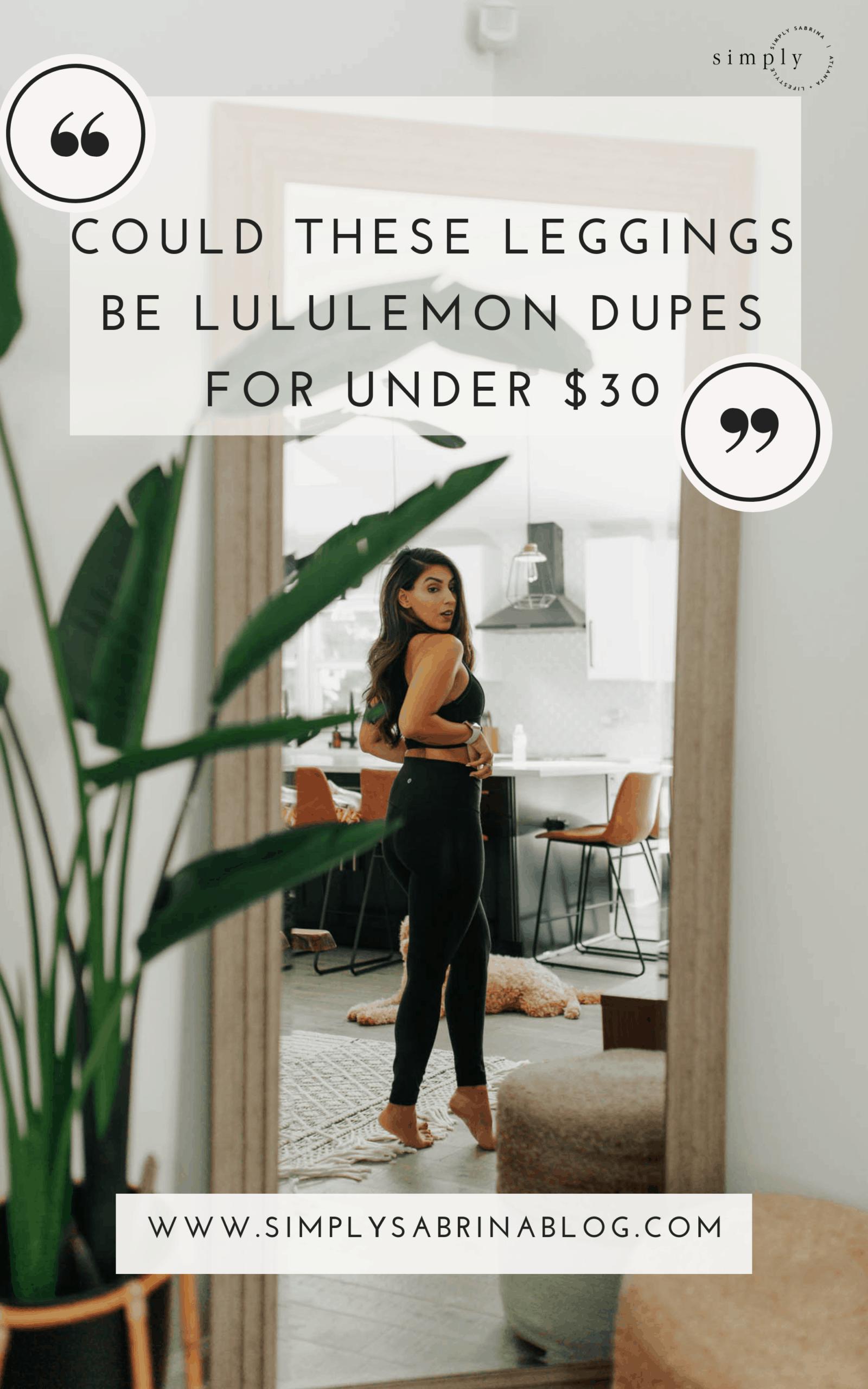 lululemon dupes, lululemon leggings, aerie leggings